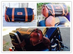 -RUBB- Leatherworks Luggage motorbag